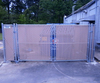 Chain Link with Vinyl Slats